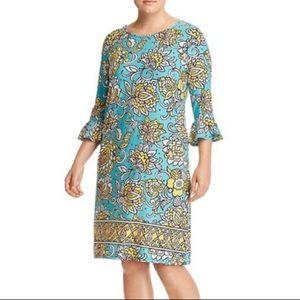 Leota Blake Bell Blue Floral Flounce Dress